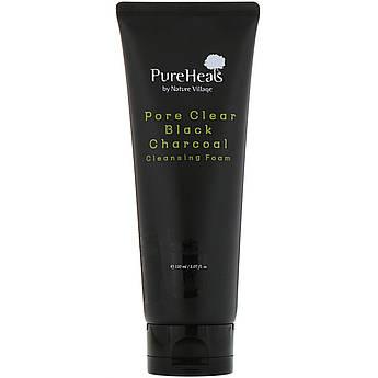 Пенка с чёрным углём для очищения пор PureHeal's Pore Clear Black Charcoal Cleansing Foam 150 мл