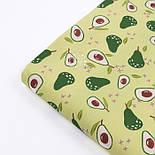 """Поплін шириною 240 см """"Авокадо"""" на салатовому фоні (№3306), фото 3"""
