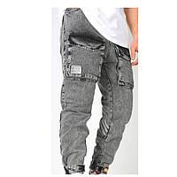 Штани чоловічі джинсові джоггеры модні з кишенями | Виробник Туреччина