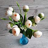Букет молочних троянд. (10 кольорів), фото 3