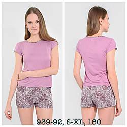 Комплект женский (футболка с коротким рукавом + шорты) NEL (размер L)