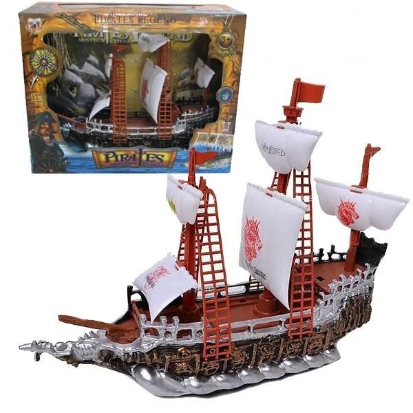 Піратський корабель іграшка для дітей Pirates Legend сміх капітана, музика, підсвічування арт.350-2