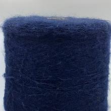 VIRGINIA (т. синий)-30% кид мохер, 40% полиамид, 30% нейлон - бобинная пряжа для машинного и ручного вязания