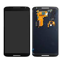 Дисплей для Motorola XT1100 Nexus 6 | XT1103 | XT1105 Amoled з тачскріном, чорний, Original PRC