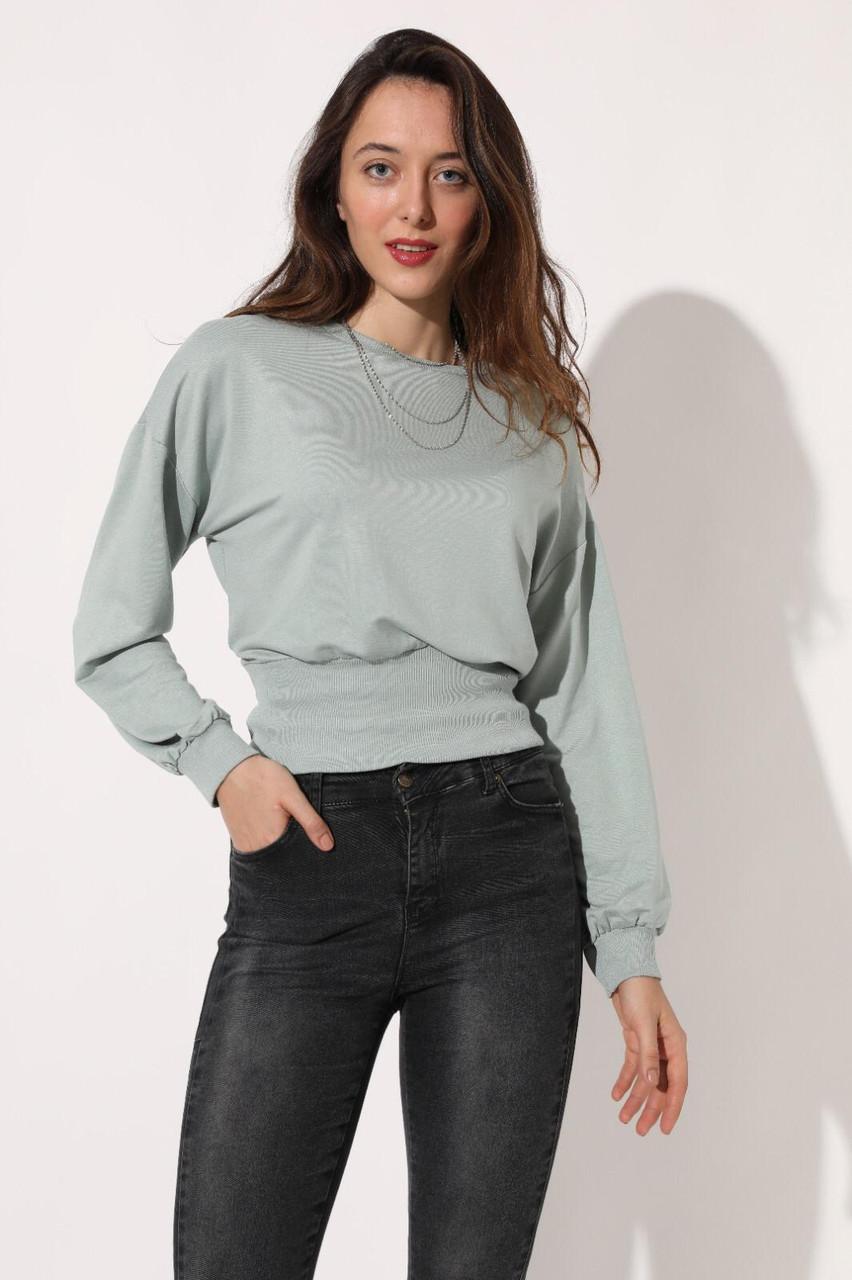 Жіночий красивий пуловер з напуском SML (в кольорах)