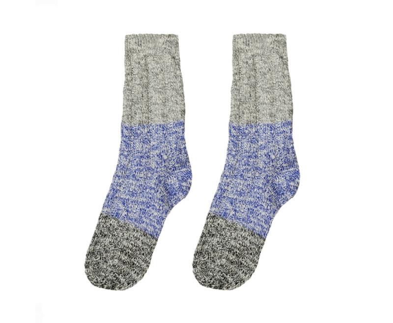 """В'язані шкарпетки SOX """"Від бабусі"""" зі світло-сірим верхом"""