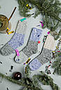 """В'язані шкарпетки SOX """"Від бабусі"""" зі світло-сірим верхом, фото 3"""