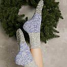 """В'язані шкарпетки SOX """"Від бабусі"""" зі світло-сірим верхом, фото 4"""