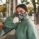 Женская защитная маска Sammy Icon черно-белая Tobu mask, фото 2
