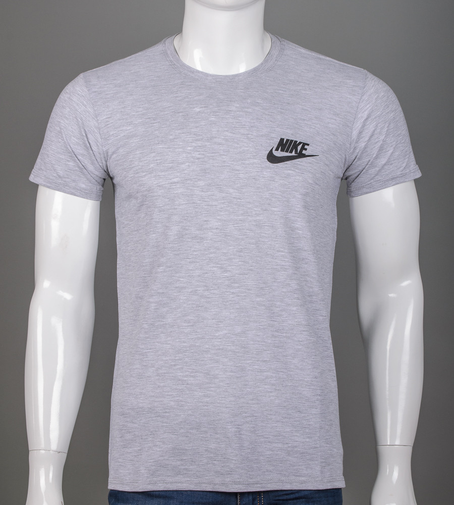 Футболка мужская NIKE (2109м), Серый меланж