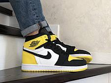 Кроссовки Nike Air Jordan,белые с желтым. Хит Весны 2021., фото 3