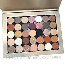 Палетка тіней для повік Huda Beauty New Nude Europa colors (35 кольорів на магнітах)), фото 3