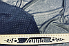 """Ткань легкий темно-синий шифон в мелкий горошек """"Пупырышки"""", фото 3"""
