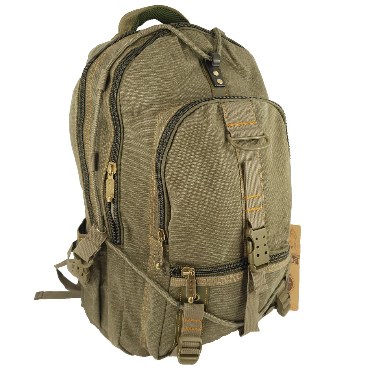 Брезентовий(джинсовий) великий рюкзак GoldBe! на 50л