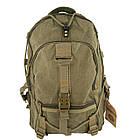 Брезентовий(джинсовий) великий рюкзак GoldBe! на 50л, фото 4