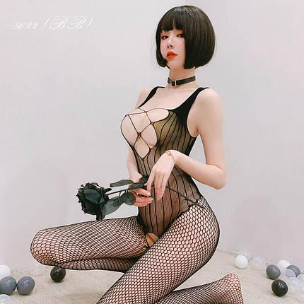 Жіноча нижня білизна, еротичний бодистокинг 8022 (ВВ), фото 2