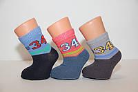Дитячі шкарпетки середні з бавовни комп'ютерні для малюків Стиль люкс 14-16 682 номер 34