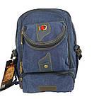 Брезентовый(джинсовый) средний рюкзак GoldBe!, фото 3