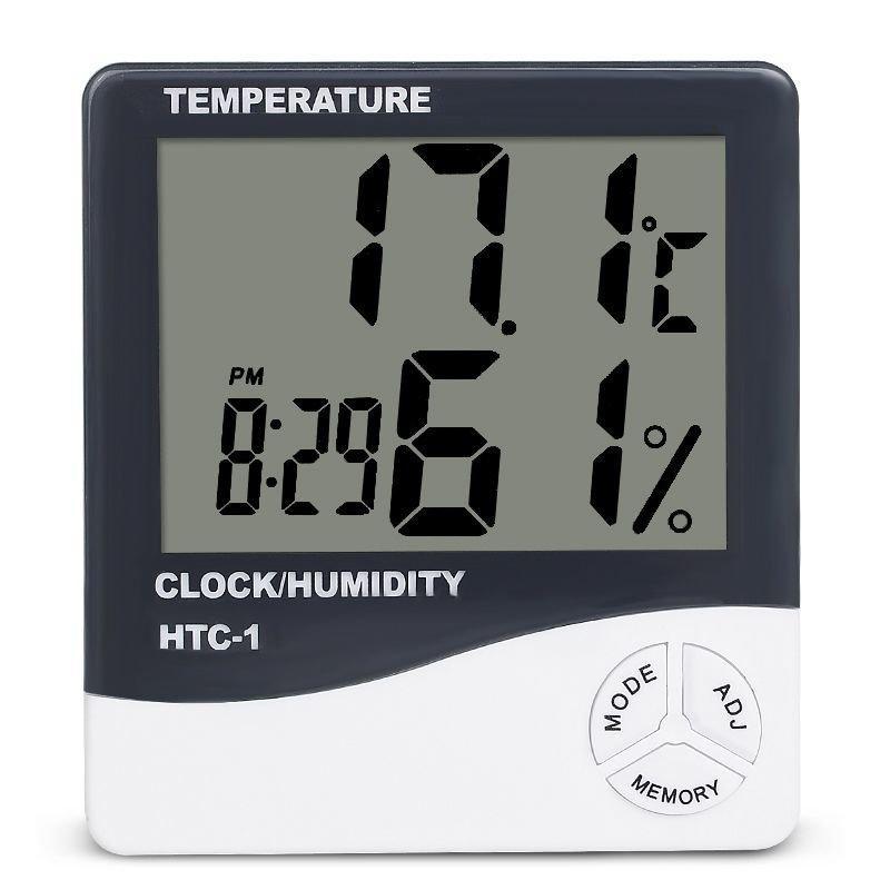 Электронный комнатный термометр гигрометр с часами KETOTEK НТС-1 - Love&Life