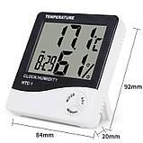 Электронный комнатный термометр гигрометр с часами KETOTEK НТС-1 - Love&Life, фото 3