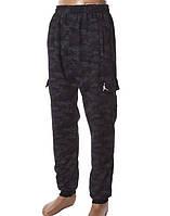 Чоловічі спортивні штани під гумку на флісі 46-52 норма темно-синій, фото 1
