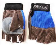 Перчатки SANTOLY для фитнеса и спорта, антискользящие, синие