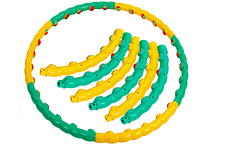 Xула-хуп ТАЙВАНЬ массажный с шариками, обруч для фитнеса