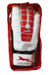 """Перчатки вратарские """"Снежный барс"""", белые с красным"""