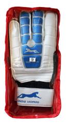 """Перчатки вратарские """"Снежный барс"""", белые с синим"""
