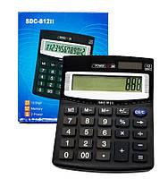 Калькулятор SDC-812II бухгалтерский, черный 12разрядный двойное питание