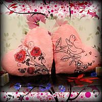 Светящаяся Подушка – Сердце Розы (розовый)