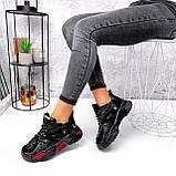 Кроссовки женские Ella черные с красным, фото 6