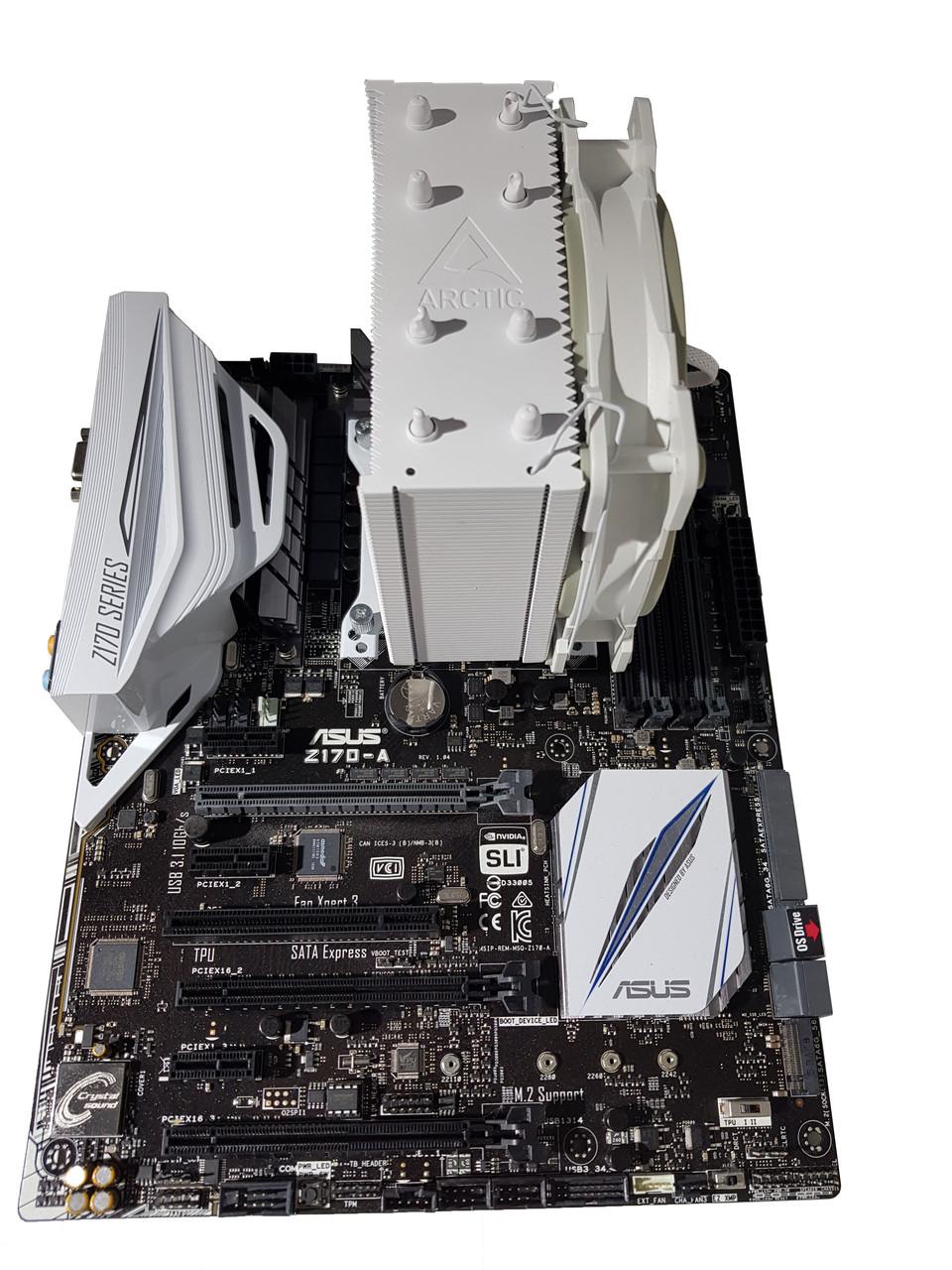 Комплект для апгрейда Asus Z170-A, Intel Core i5-6600k, башня ArcticCool, DDR4 8Gb
