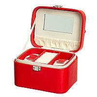 Шкатулка для украшений красная 0505-008/red. Подарки на 8 марта