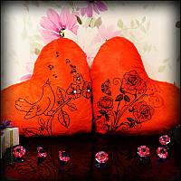Светящаяся Подушка – Сердце Розы (красный)