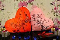 Светящаяся Подушка – Сердце Весна (розовый)