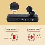Диктофон для запису дзвінків у вигляді Bluetooth гарнітури Waytronic WT-R12 Чорний (100624), фото 4