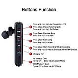 Диктофон для запису дзвінків у вигляді Bluetooth гарнітури Waytronic WT-R12 Чорний (100624), фото 5