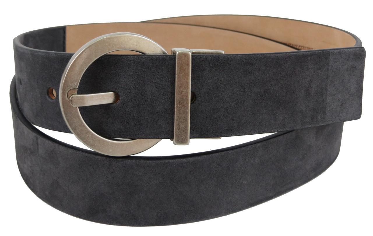 Женский кожаный ремень Tod's 3,5 см Темно-серый (S31C41-2)