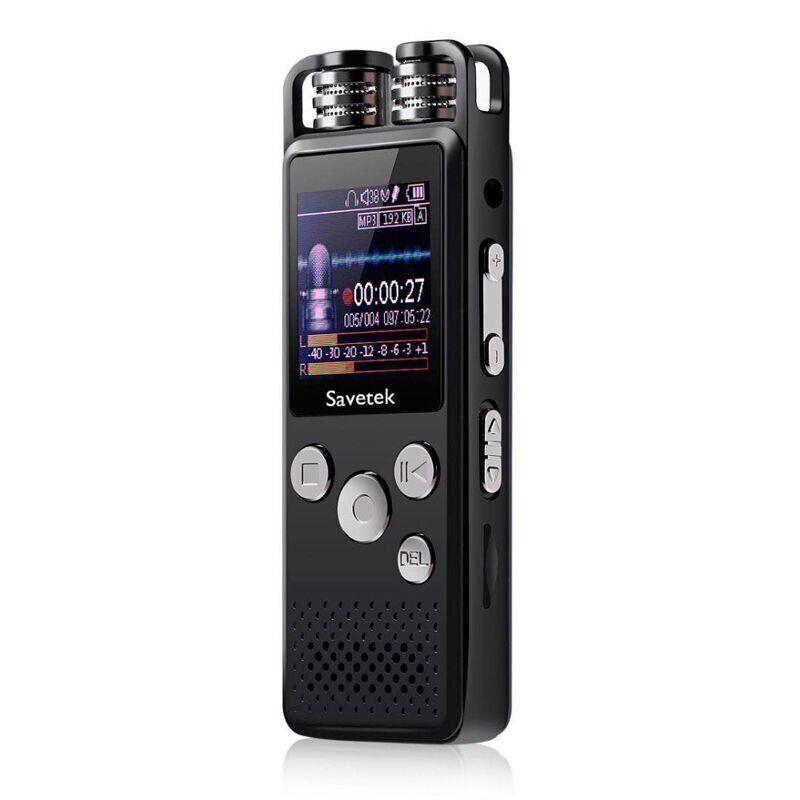 Професійний цифровий диктофон для журналіста Savetek GS-R07 32 Гб (100643)