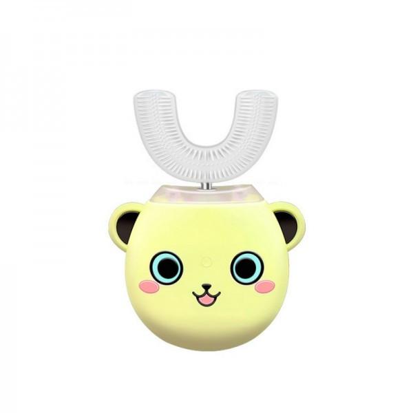 Розумна електрична зубна щітка капа з автоматичною стерилізацією BeWhite Дитяча Жовта (181)