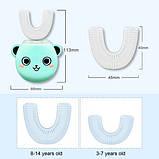 Розумна електрична зубна щітка капа з автоматичною стерилізацією BeWhite Дитяча М'ятна (182), фото 2