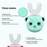 Розумна електрична зубна щітка капа з автоматичною стерилізацією BeWhite Дитяча М'ятна (182), фото 4