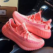 Женские кроссовки в стиле Adidas Yeezy Boost 350 v2 Glow In Dark Pink