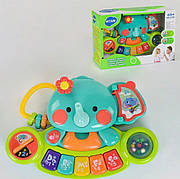 Детская музыкальная развивающая игрушка Пианино Hola Toys Слоник на 5 клавиш (3135)