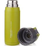 Бутылка-термос спортивная Pinkah PJ-3504 650 мл Зеленая с серым, фото 4