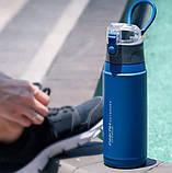 Пляшка-термос для спорту Pinkah PJ-3504 650 мл Синій з сірим, фото 2