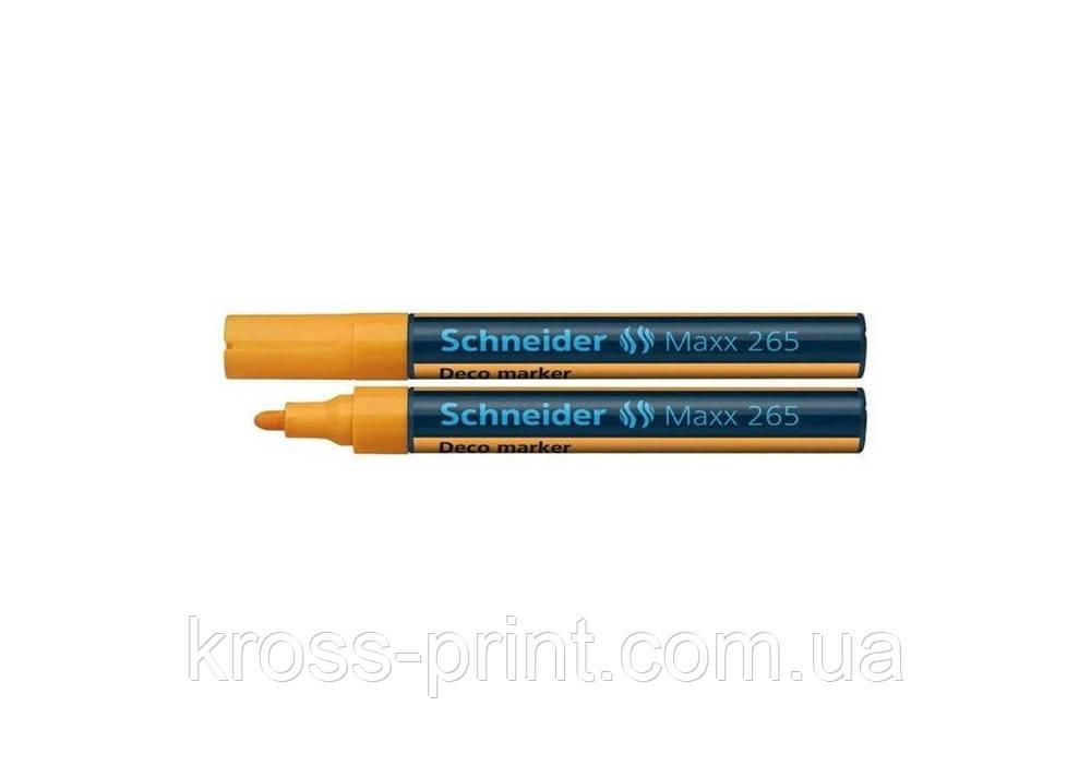 Маркер меловой SCHNEIDER MAXX 265 2-3 мм, оранжевый