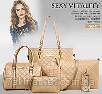 """Сумка жіноча 6-в-1 молодіжна, розміри в описі """"MILANA"""" недорого від прямого постачальника"""