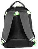 Молодежный рюкзак PASO с абстракцией 21 л Черный (BDC-367), фото 2